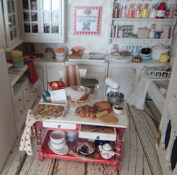 Miniature Distressed Dessert and Pie Baking by RibbonwoodCottage
