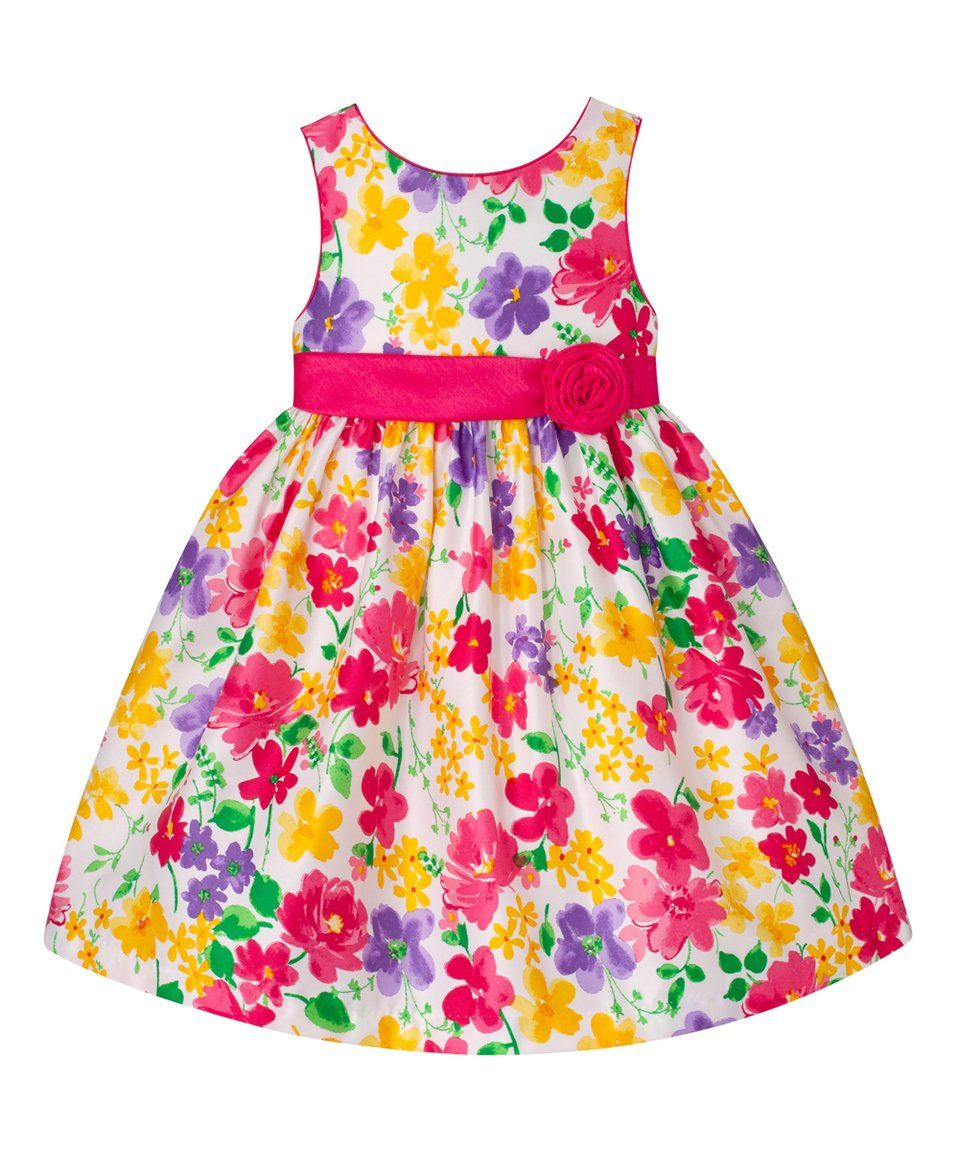 3c4077b4dc American Princess | Pink & Yellow Floral Sash A-Line Dress - Infant by American  Princess #zulily #zulilyfinds