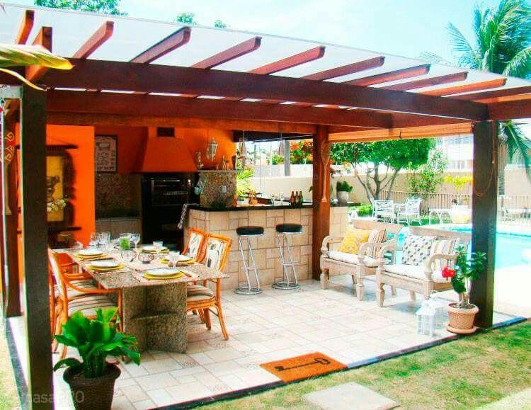 Cocina y comedor exterior cocinas pinterest pergolas - Cocina exterior ...