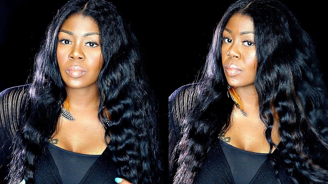 how i style old flat ironed hair: heatless deep waves