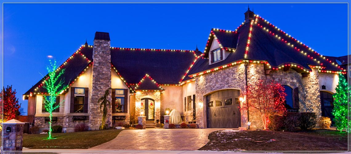 candy cane christmas roof lights create single two or three color light patterns to switch up the display each year alternate red and cool white led