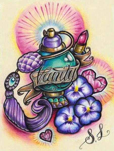 New School Girly Tattoos: Vanity By DollyEyes.deviantart.com On @deviantART
