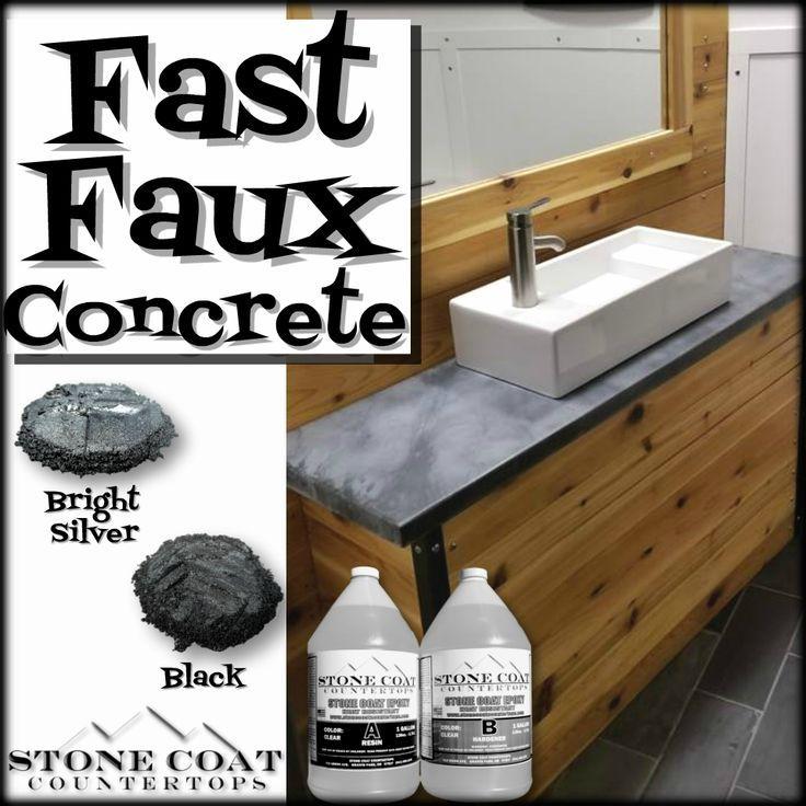 Stone Coat 2 Gallon Kit (2020)   Faux concrete countertops ...
