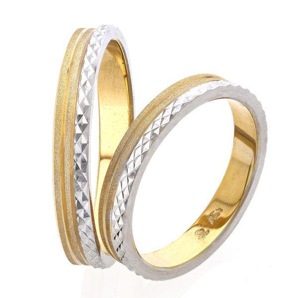38d284d2a150 Βέρες γάμου Stergiadis δίχρωμο χρυσό Κ14