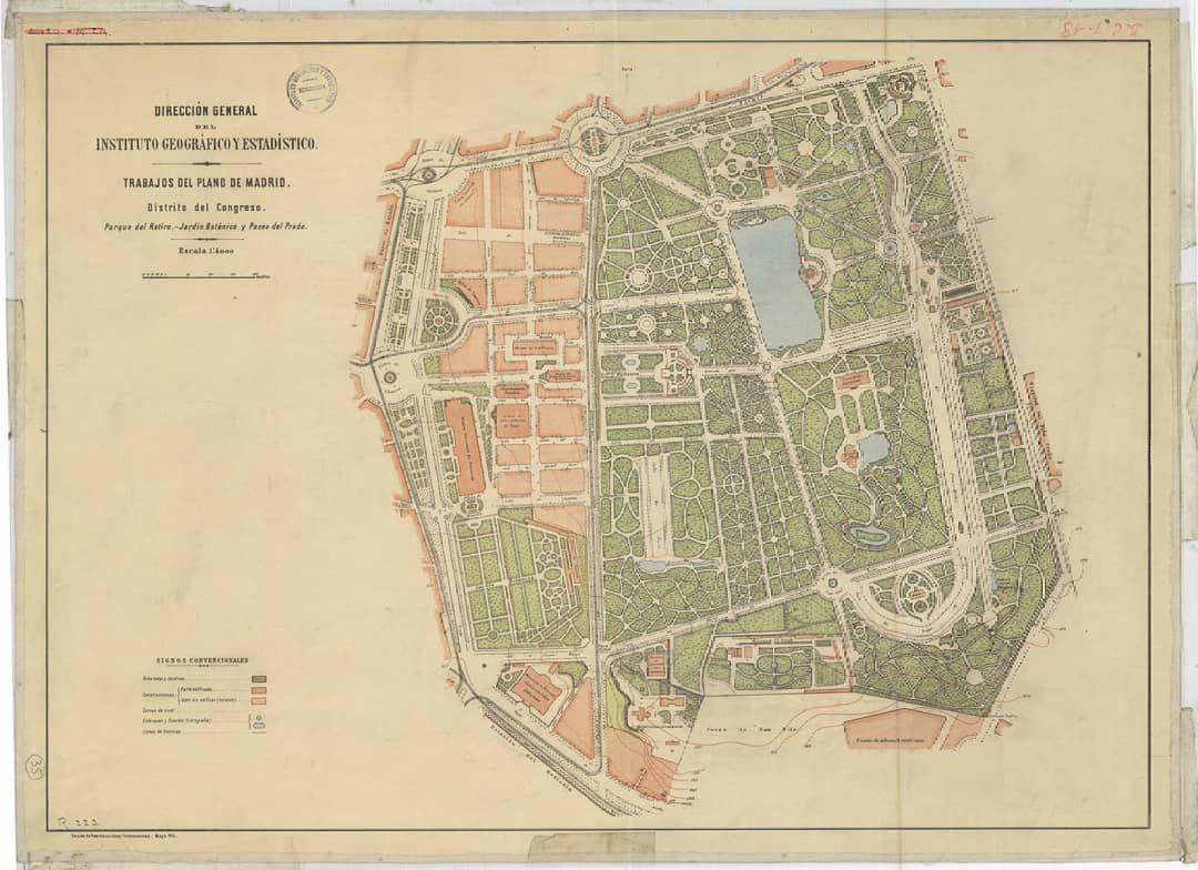 Plano Parque Del Retiro Mapa.Parque Del Retiro Jardin Botanico Y Paseo Del Prado Mapas