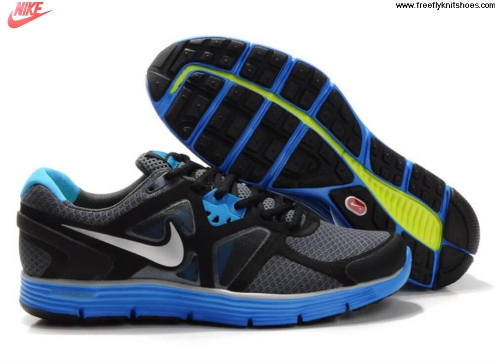 Low Price Mens Nike Lunarglide 3 Gray Black Blue Shoes Lightweight Shoes