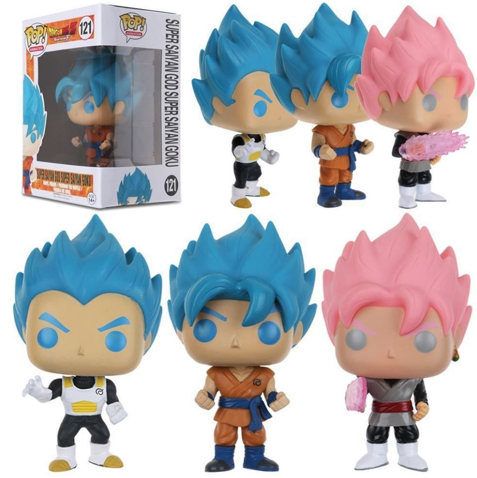 Funko Pop Dragon Ball Z Vinyl Goku Vegeta Gotenks Hit Beerus With Box