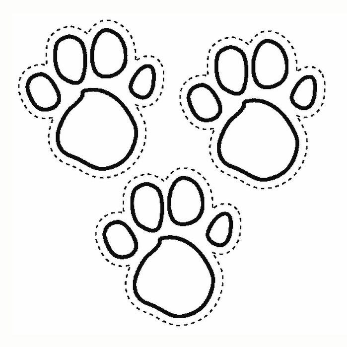Paw Print Coloring Page Ideas Blues Clues Paw Print Coloring
