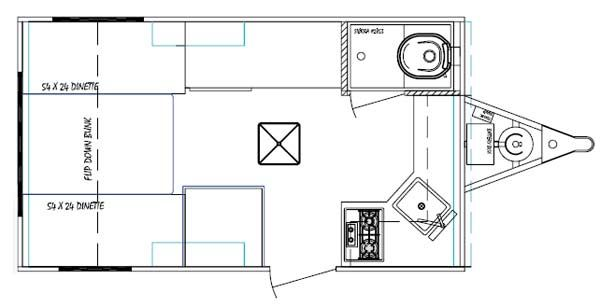 serro scotty tonga small travel trailer floorplan