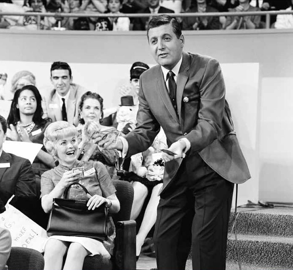 Monty Hall hosting LET'S MAKE A DEAL, 1965.