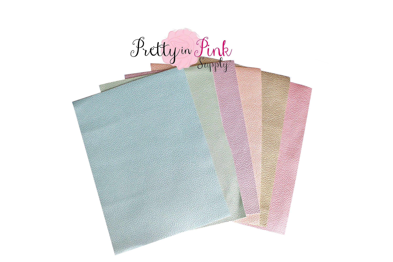 A4 GlitterFaux Vinyl Leatherette Fabric SheetsDIY HandmadeBowsCraft