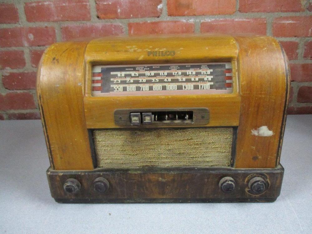 Vintage 1941 Philco Tube Radio Model 42 345 For Parts Or Repair Philco Vintage Tube Ebay