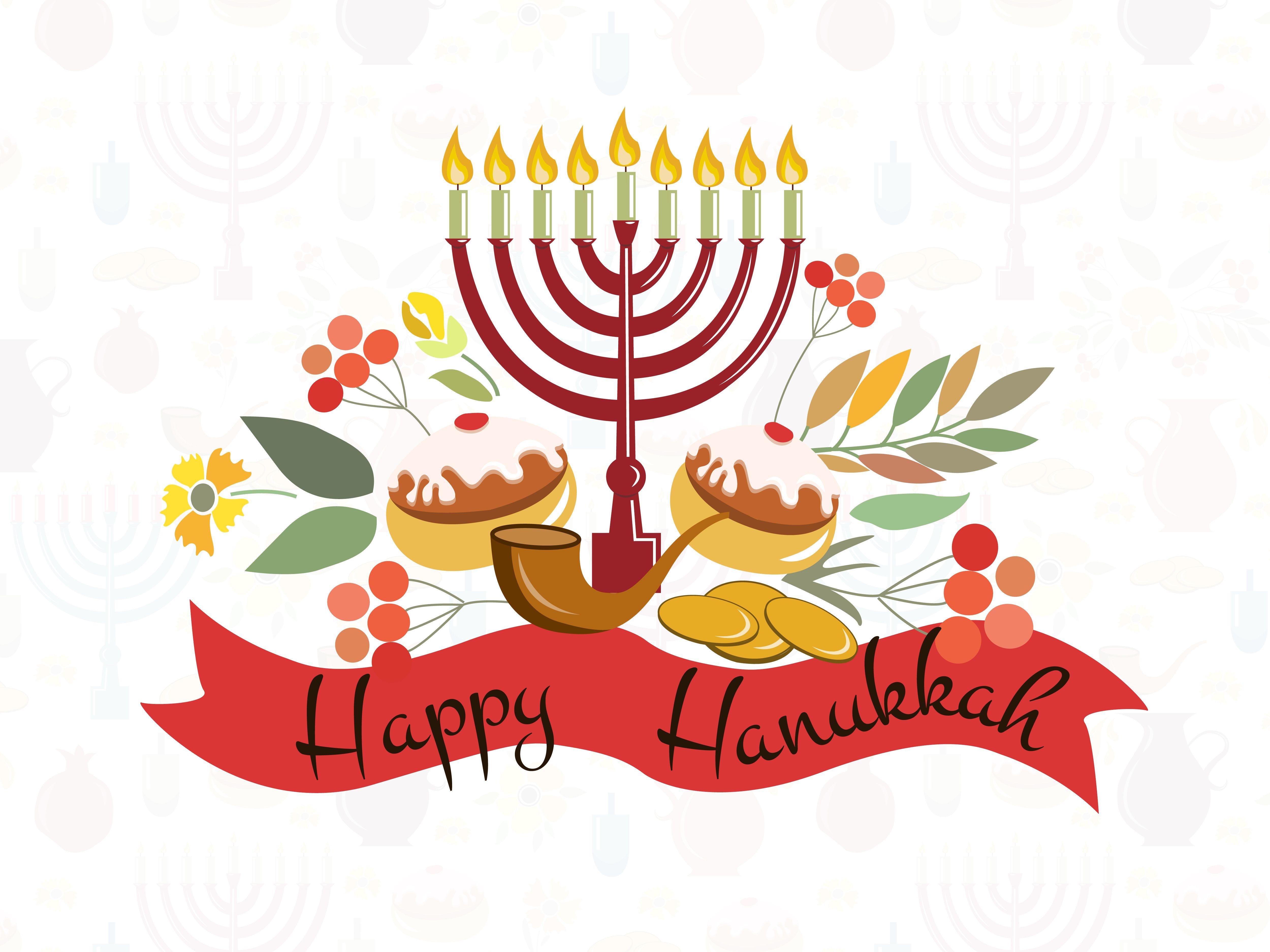 Happy Hanukkah Watercolor Card   Watercolor cards, Hanukkah and Card ...