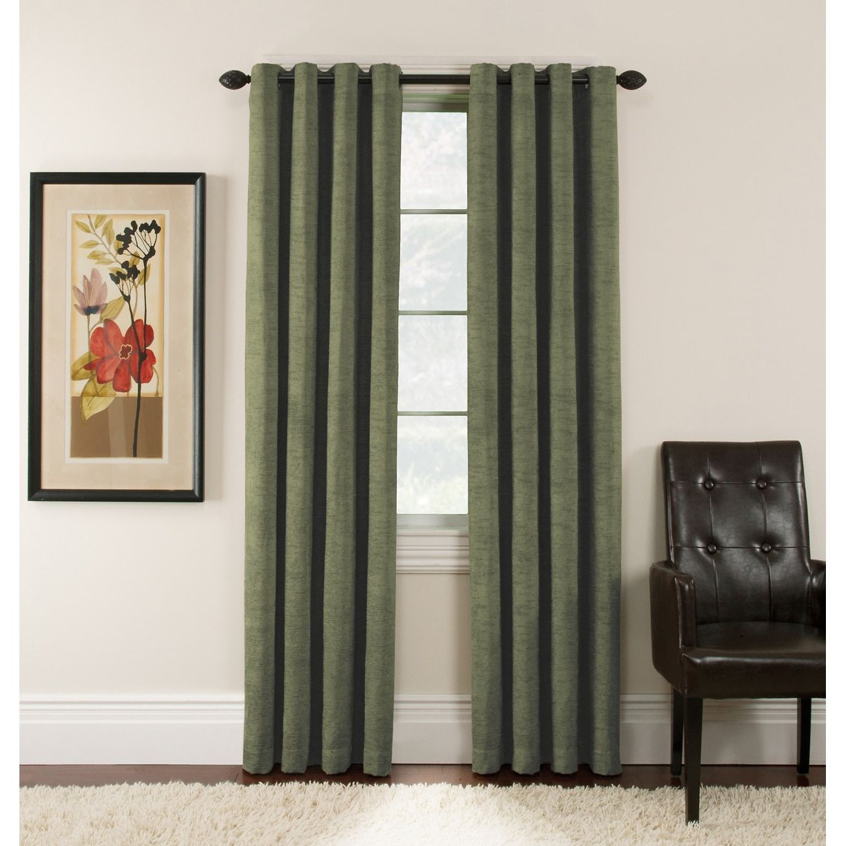 Office window coverings  antique velvet inch blackout grommet top panel pair  overstock