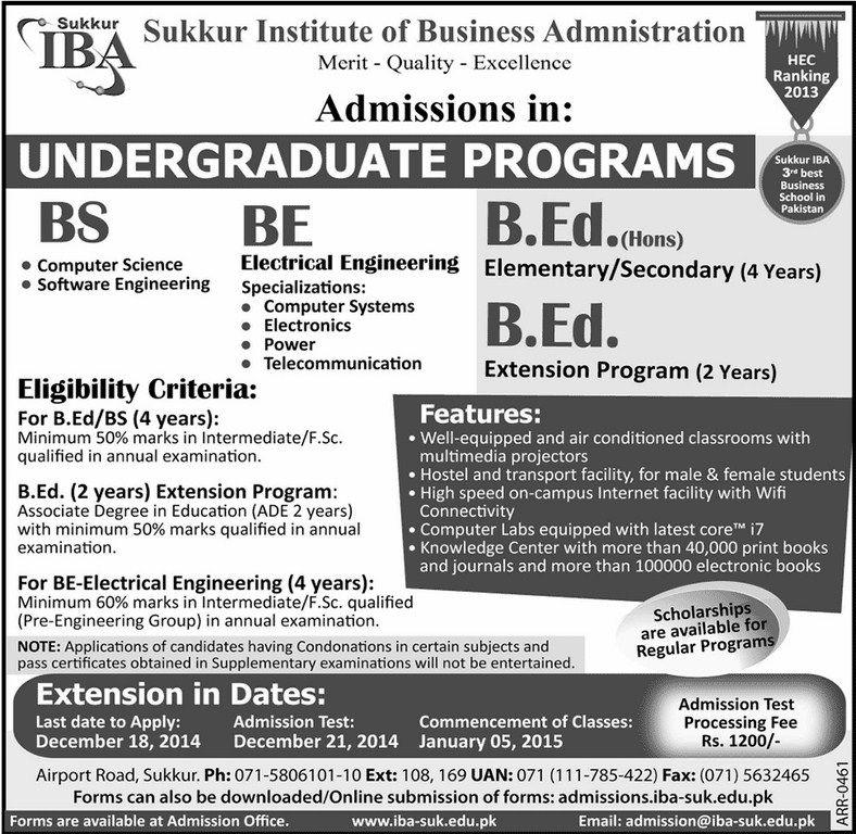 Sukkur Institute of Business Administration UNDERGRADUATE