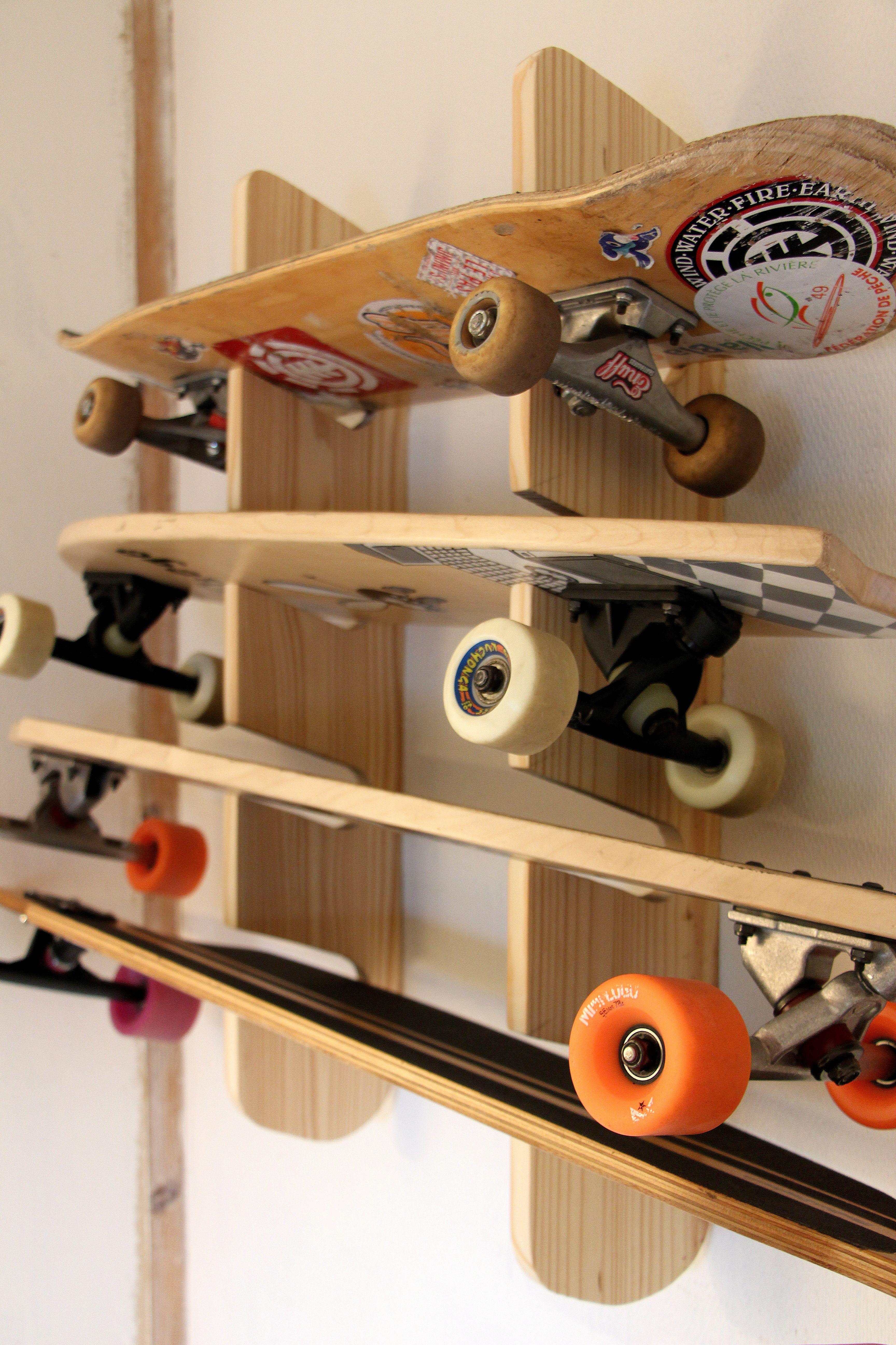 Diy Skateboard Rack Skateboard Rack Skateboard Storage Skateboard Racks Diy