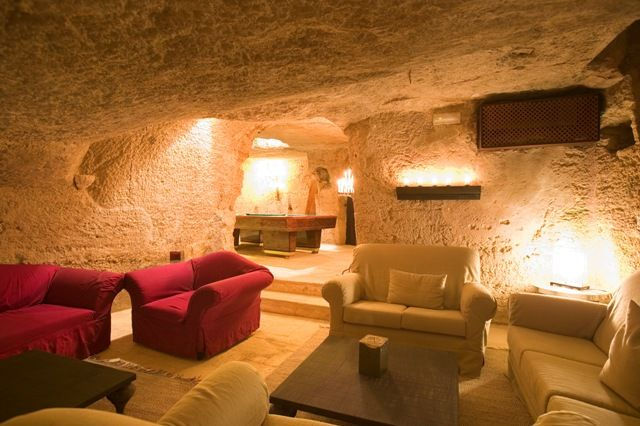 A living room in our olive mill.  Masseria Torre Coccaro, Puglia, Italy.
