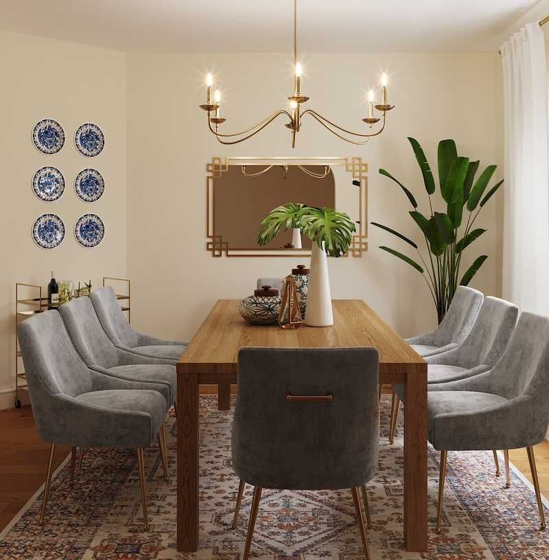 Modern Transitional Dining Room Design By Havenly Interior Designer Shruti Dining Room Interiors Interior Design Dining Room Dining Room Design