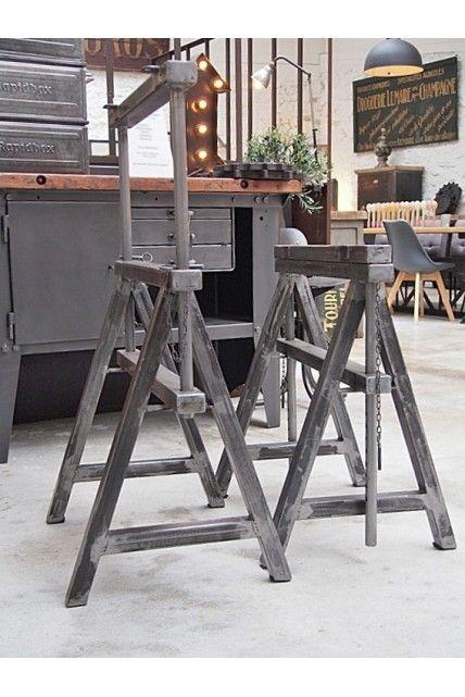 Treteaux Industriels Reglable En Hauteur Treteaux Table De Soudure Atelier De Soudure