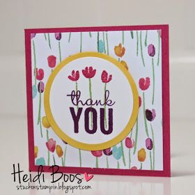 Stuck on Stampin': Painted Petals Thank You