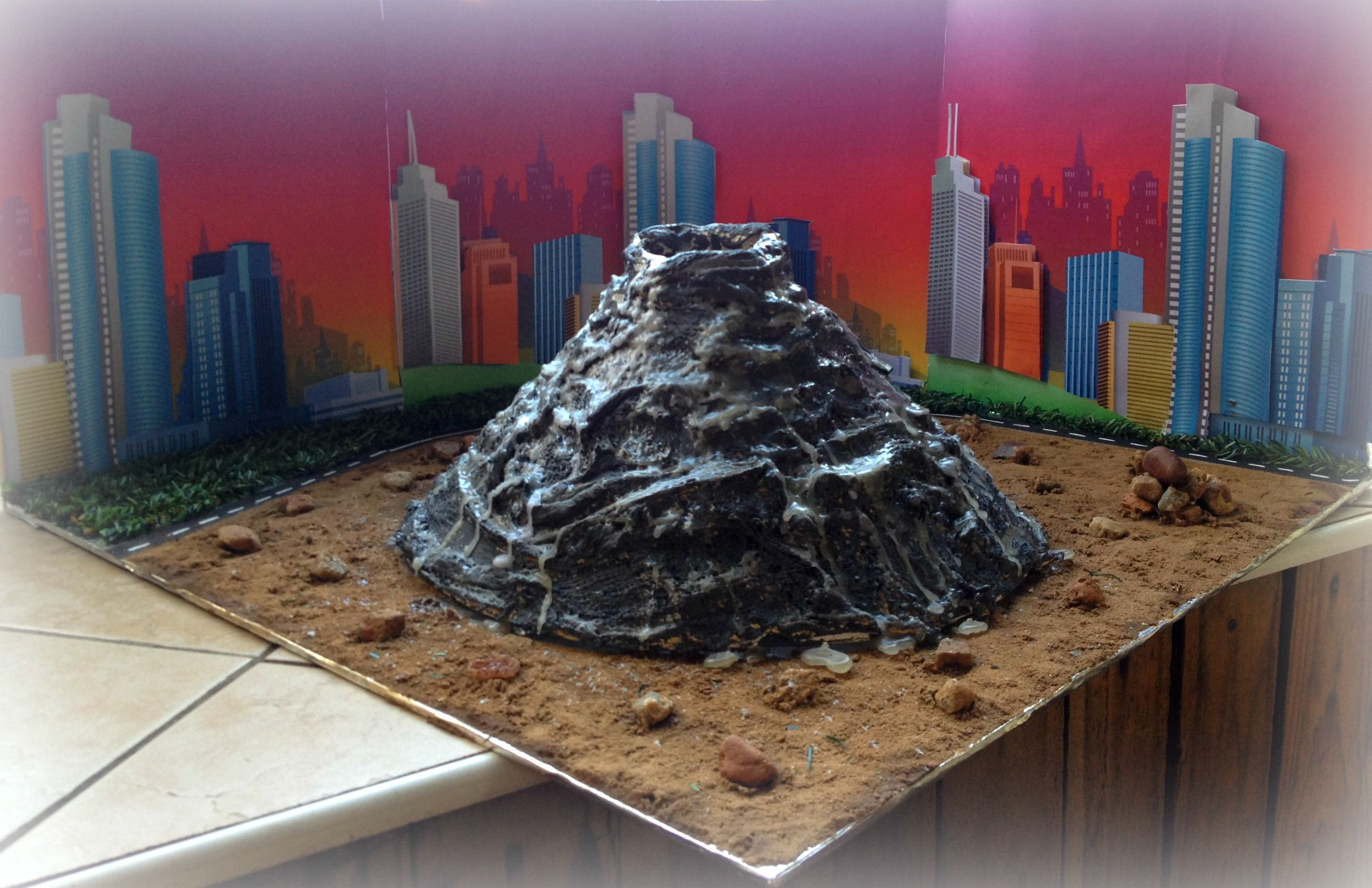how to make a volcano science project step by step