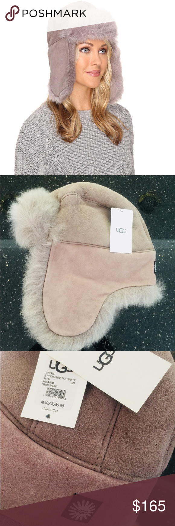 b54dfb9d6631e NWT  255 UGG Xmas Toscana trapper Ushanka hat OS Perfect Xmas gift for a  woman that s
