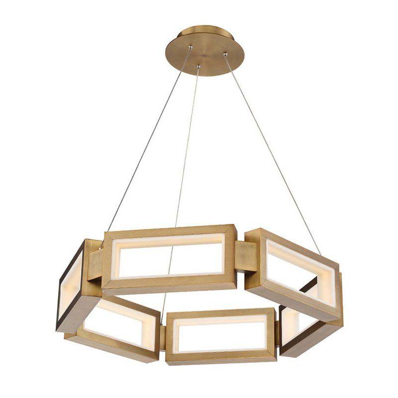 Mies 1 Light Unique Statement Geometric Chandelier Lamba