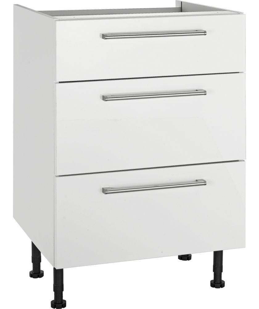 Kitchen drawer base units - Buy Hygena Valencia 600mm 3 Drawer Kitchen Base Unit White At Argos Co