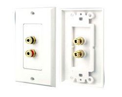 Banana Plug Wall Plate Stunning Dual Post Bindingbanana Plug Wall Plate White 2 Postspolarity For Inspiration Design