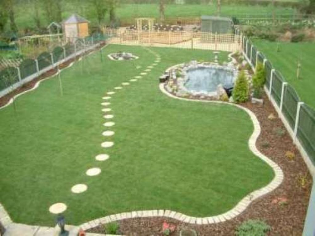 Image result for large rectangle garden design | Large ... on Big Backyard Landscaping Ideas id=23416