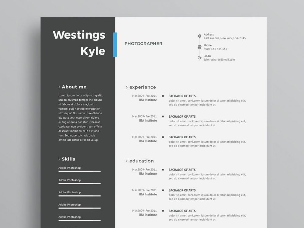 Modern Cv Template Psd Free Download Resumekraft In 2020 Free Cv Template Word Free Resume Template Word Modern Cv Template