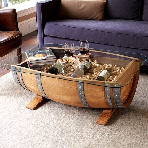 Recycled Barrel Coffee Table In 2019 Weinfass Tisch Couchtisch