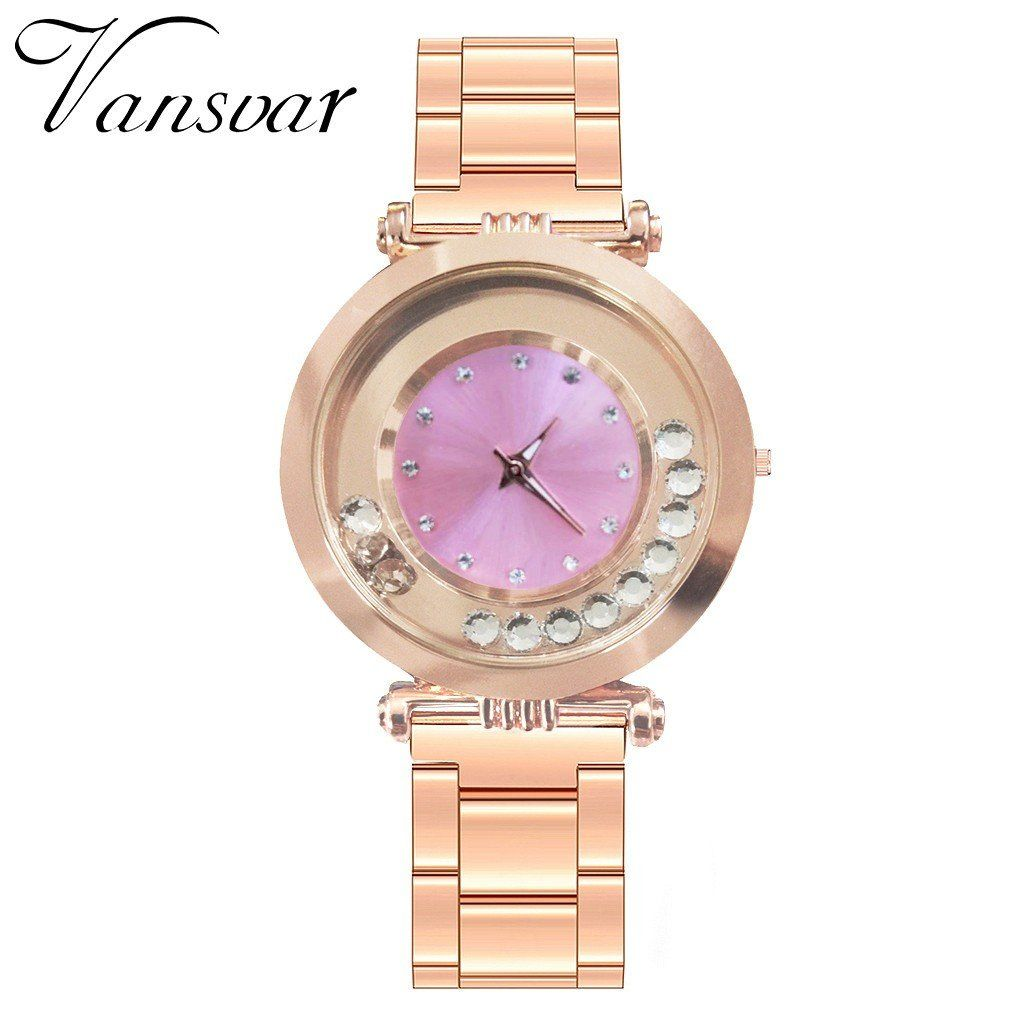 Women's Casual Quartz stainless steel Band New Strap Watch