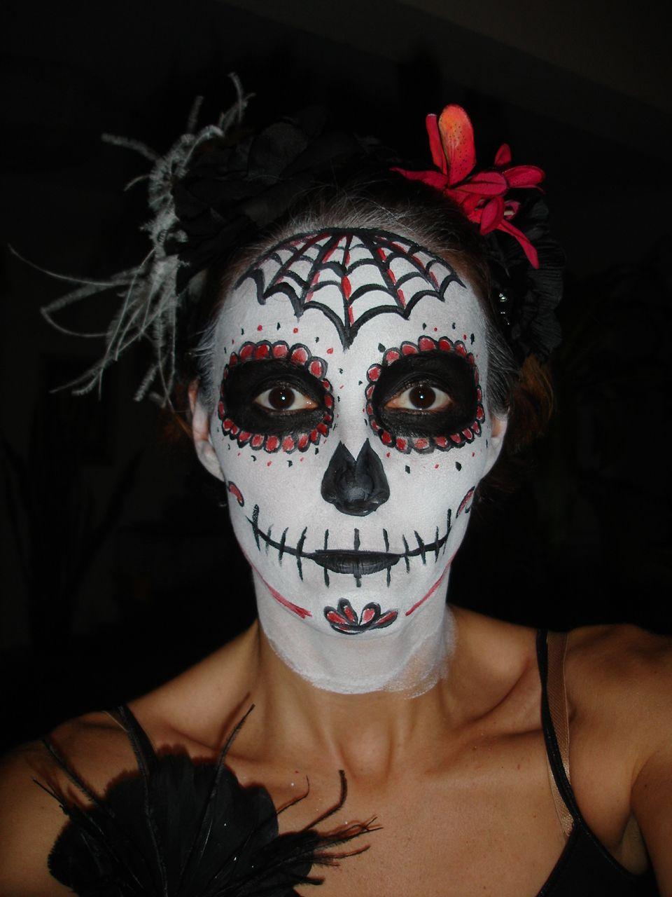 maquillage squelette mexicain petite fille. Black Bedroom Furniture Sets. Home Design Ideas