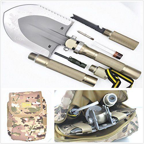 Multi-function Folding Shovel+Portable Camouflage fatigues bag Axe Hoe Hammer…