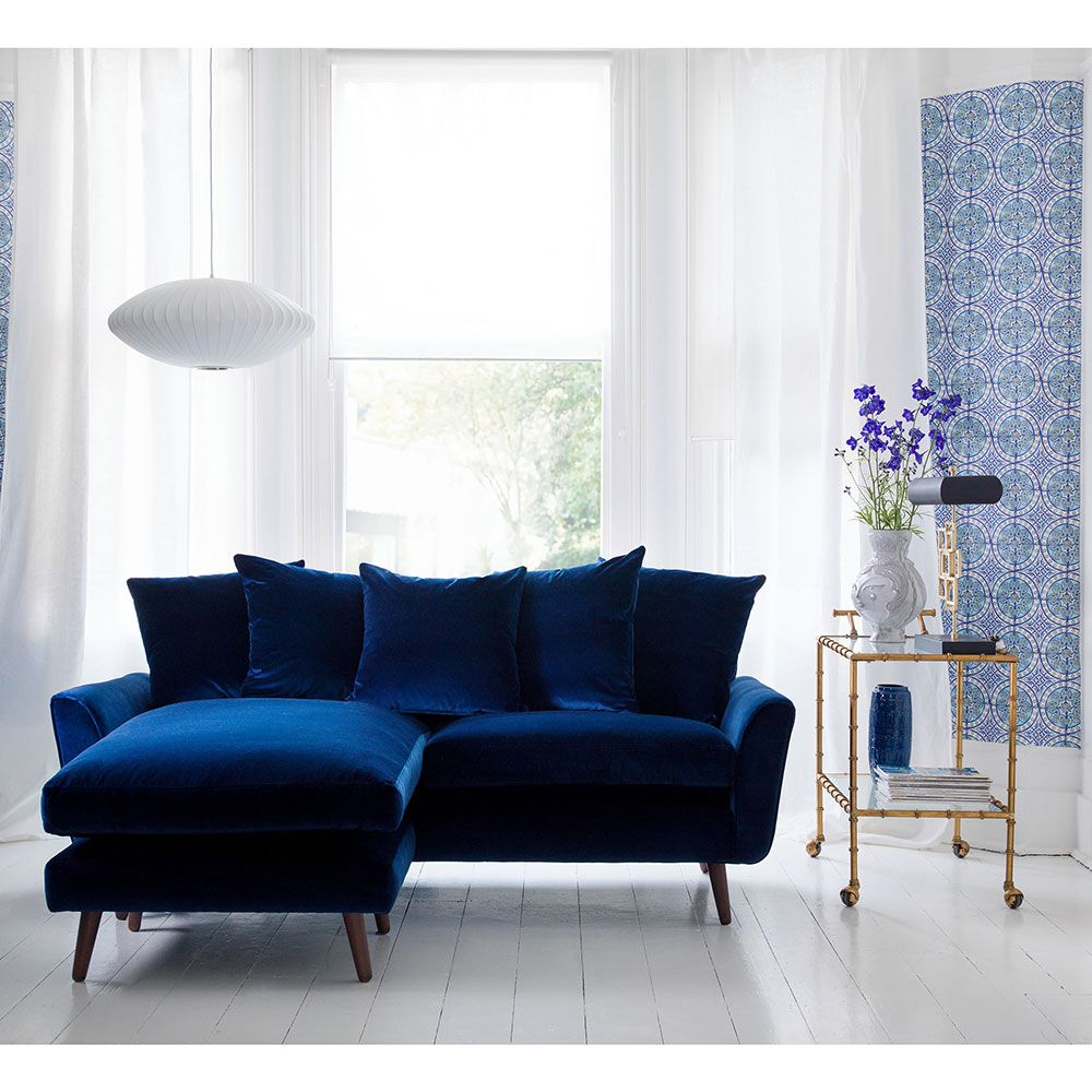 Pin By Sofacouchs On Sleeper Sofa In 2020 Blue Velvet Sofa Living Room Living Room Sofa Sofa Furniture