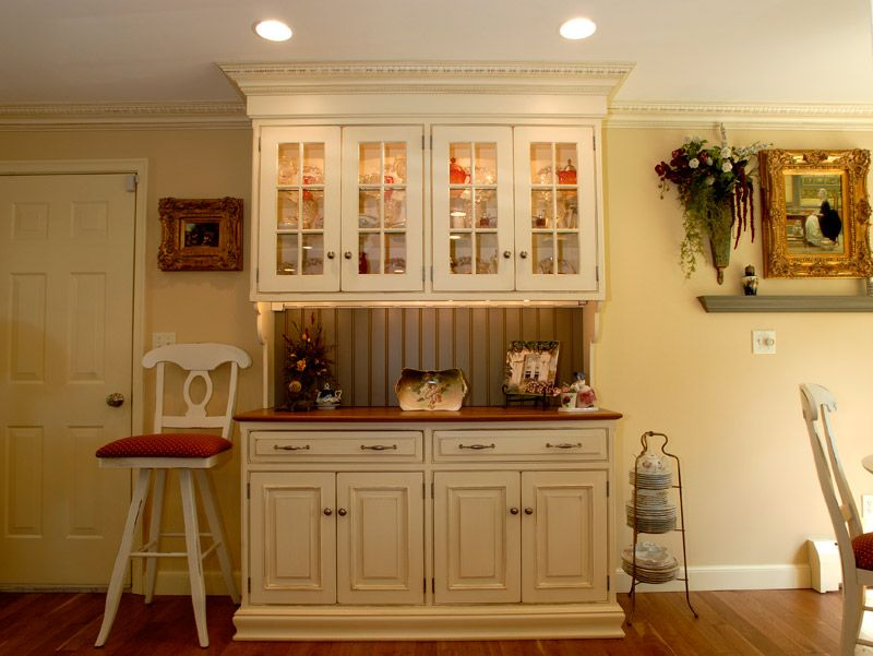 Custom Country Kitchen antique kitchen hutch and buffet | french country | oberholtzer