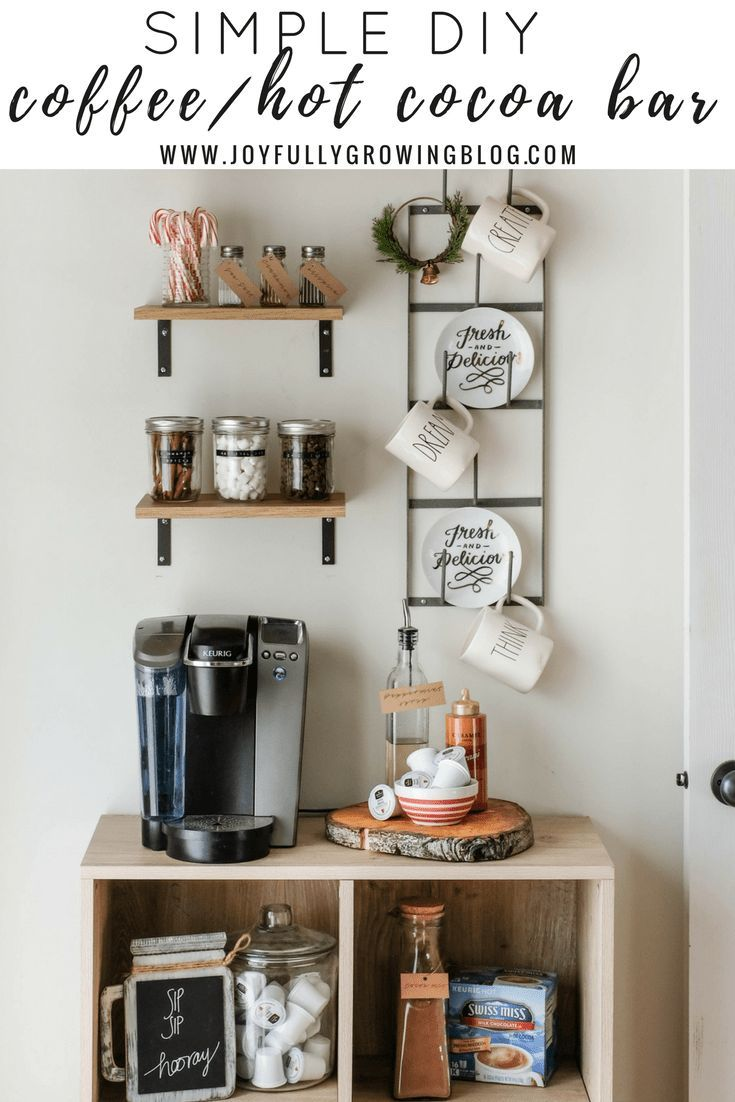 DIY Coffee/Hot Cocoa Bar + Homemade Peppermint Syrup I See how to ...