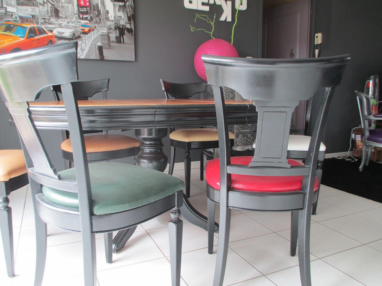 table louis philippe et chaises