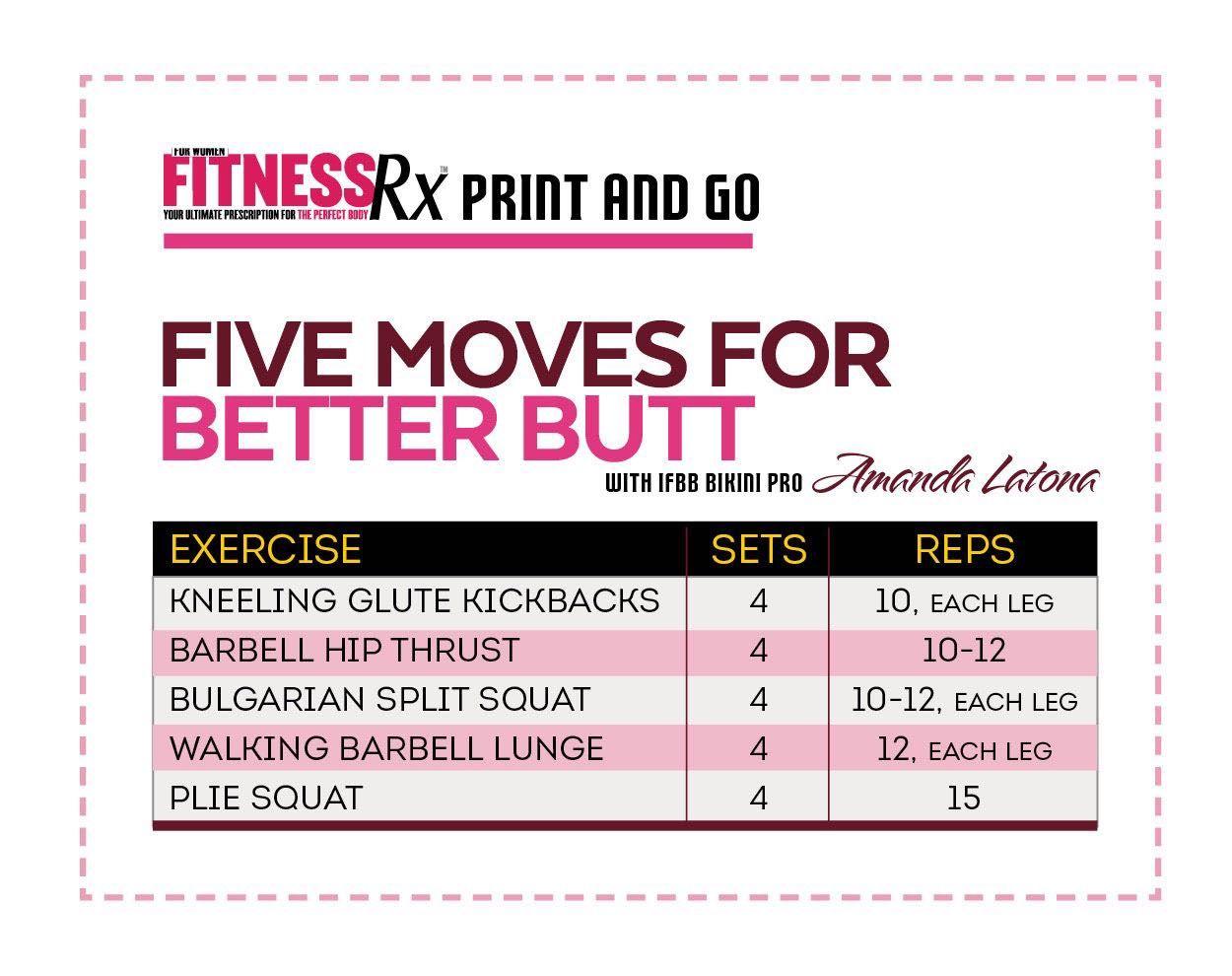 The Kick Butt Workout With Ifbb Pro Amanda Latona Work It Out Timesaving Fullbody Circuit Fitnessrx For Women