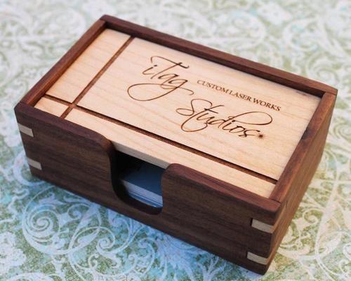 Wooden Business Card Holder Gadgetsin Wooden Business Card Holder Wooden Business Card Wood Business Cards