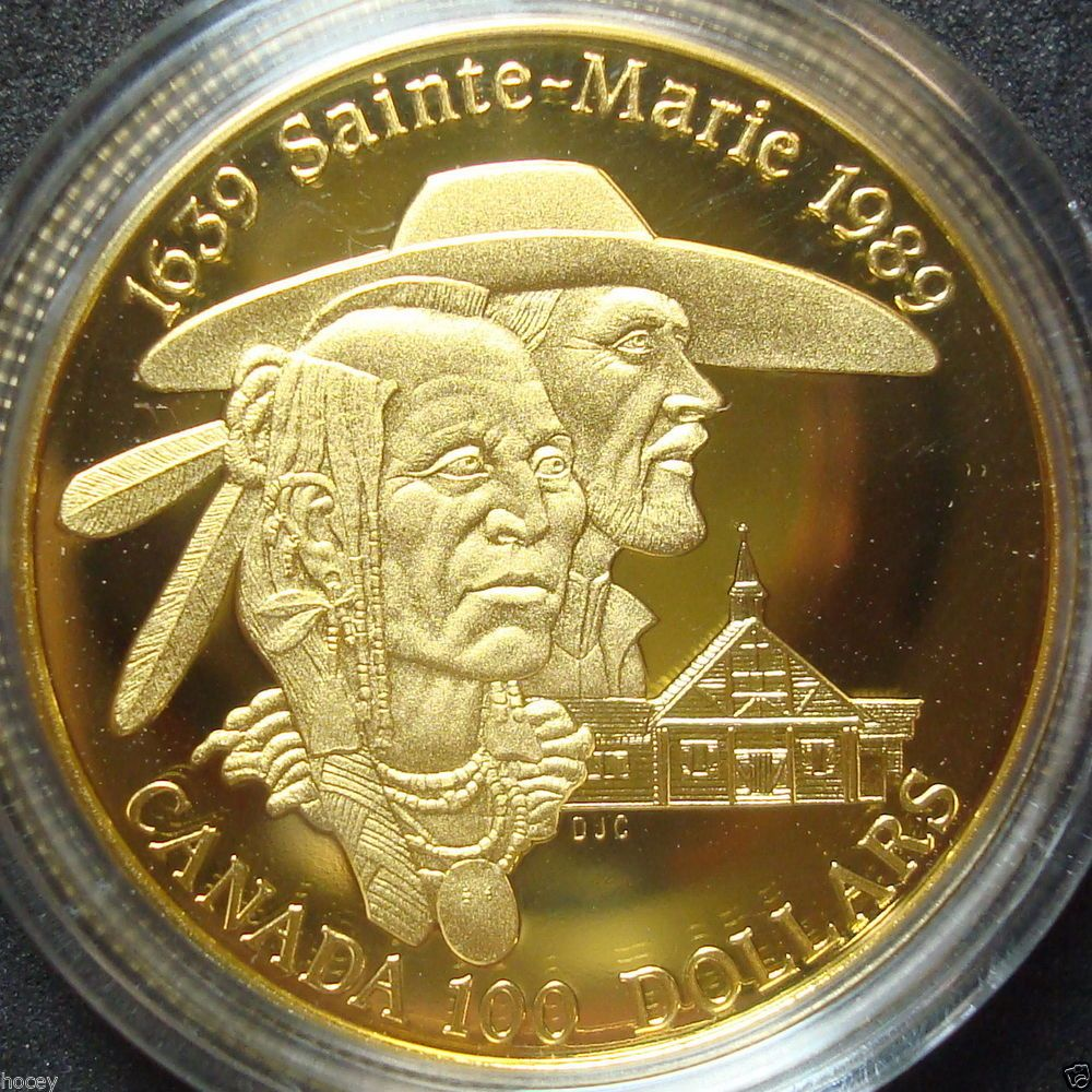 1989 Canada Proof One Hundred Sainte Marie Dollar 1 4 Ounce Gold Coin Gold Coins Coins Gold And Silver Coins