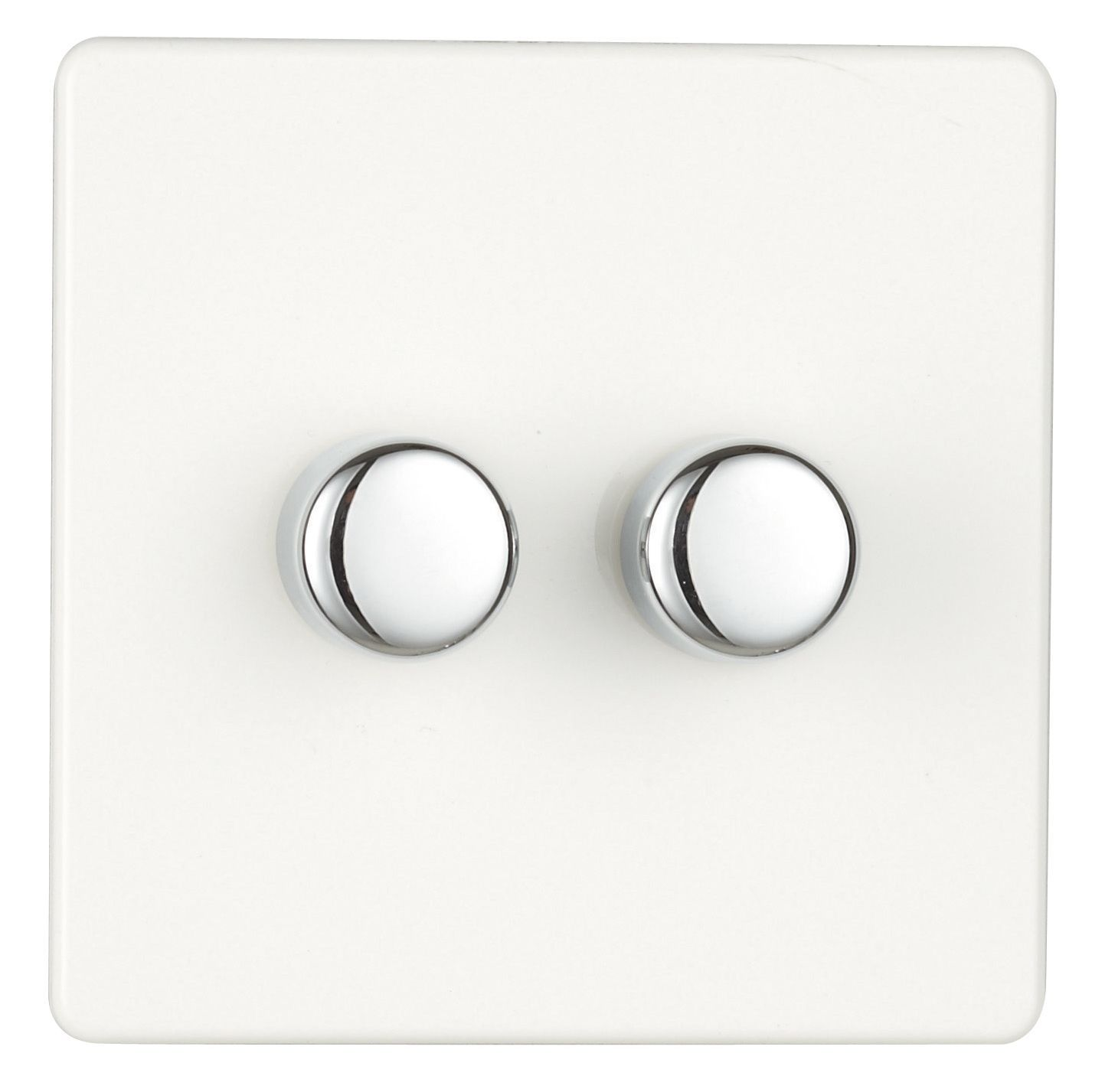Varilight 2 Way Double Ice White Gloss Dimmer Switch In 2018 And Gang Push On Off With Rotary Dimming 250w Departments Diy At Bq