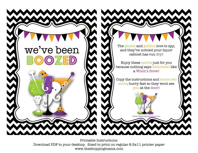 Lively image regarding you've been boozed printable
