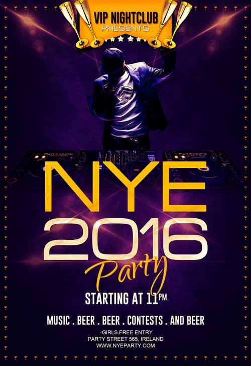 Free Free New Year Eve Party Flyer Template  HttpFreepsdflyer