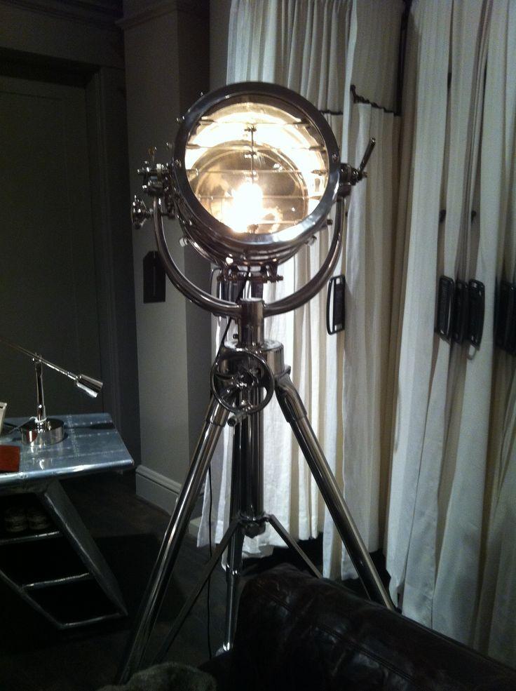 Restoration Hardware Aviation Spotlight Vintage Industrial Decor Vintage Floor Lamp