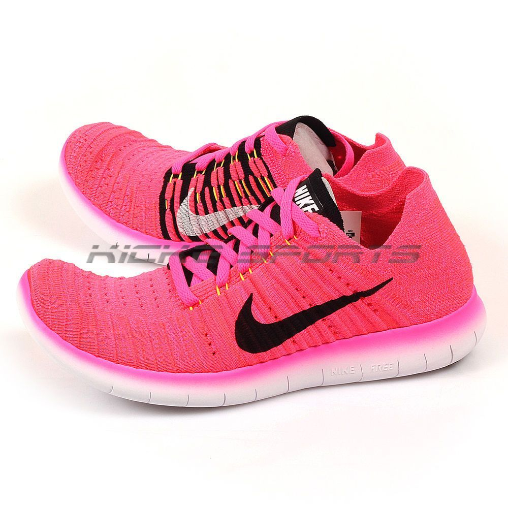 Details about Nike Wmns Free RN Flyknit Pink BlastBlack-Laser Orange-Hyper  Punch 831070-600.
