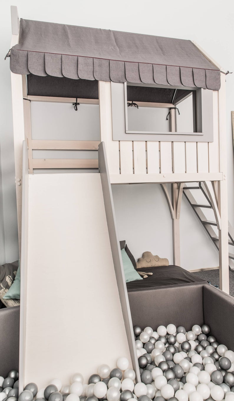Loft bed, playhouse, children bed, bunk bed for ki