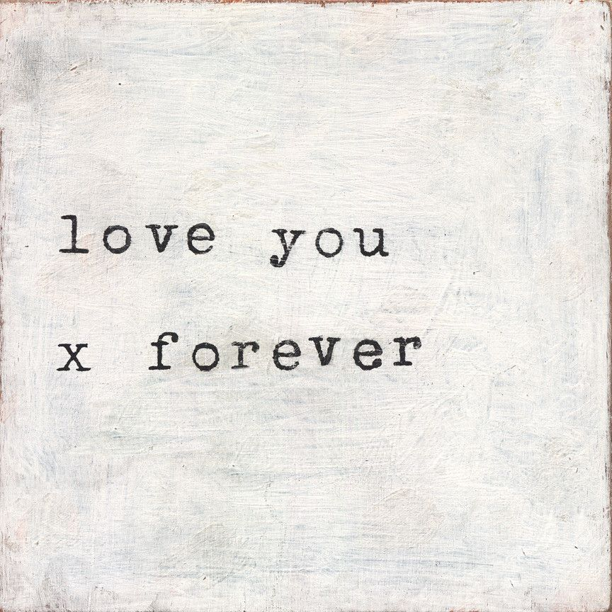 Love You X Forever Art Print