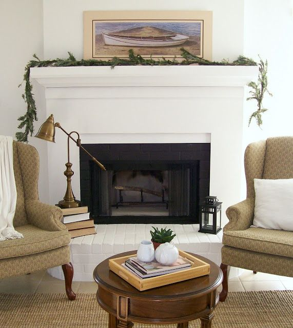 Fireplace makeover with details and before and after - Floor to ceiling brick fireplace makeover ...